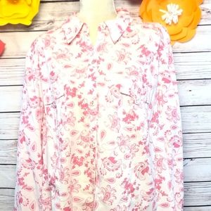 LIZ & ME LONG SLEEVE WOMEN BLOUSE SIZE 2X